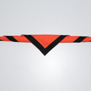 Foulard orange et noir
